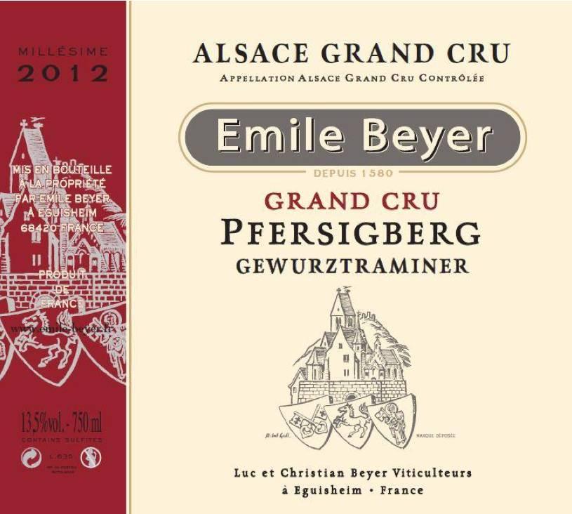 Domaine Emile Beyer - Gewurztraminer Grand Cru Pfersigberg-2