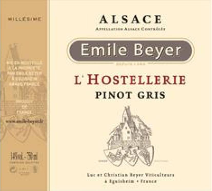 """Domaine Emile Beyer - Pinot Gris """"L'Hostellerie"""" - 2012 - Copy-2"""