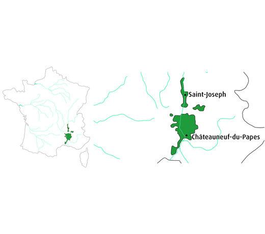 Selectie van onze wijnen uit de Rhône