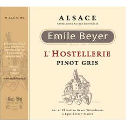 "Domaine Emile Beyer - Pinot Gris ""L'Hostellerie"" - 2012"