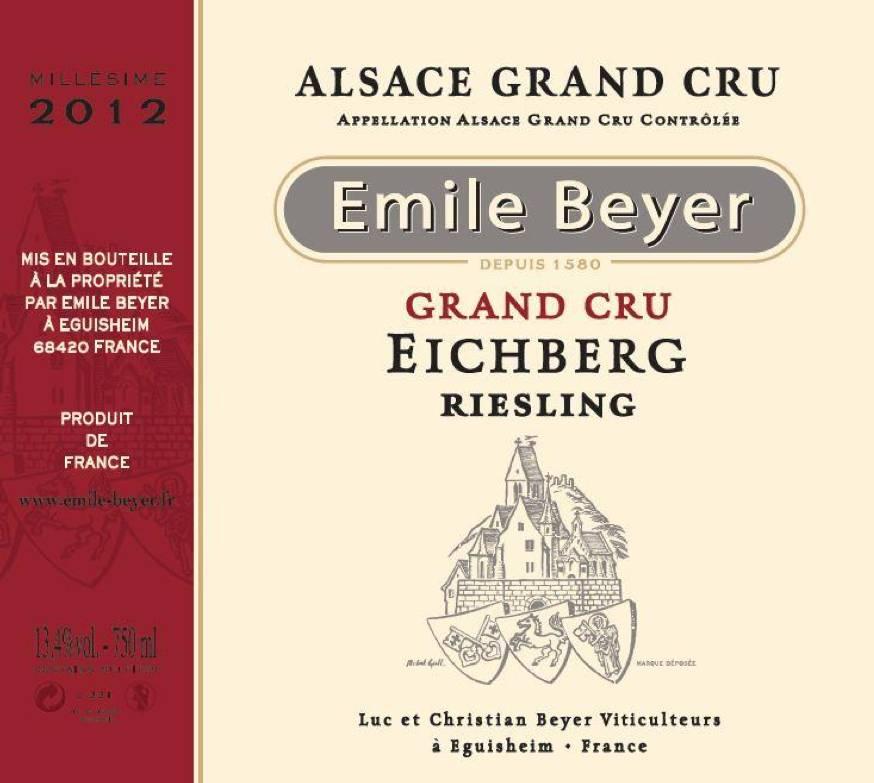 Domaine Emile Beyer - Riesling Grand Cru Eichberg - 2014-2