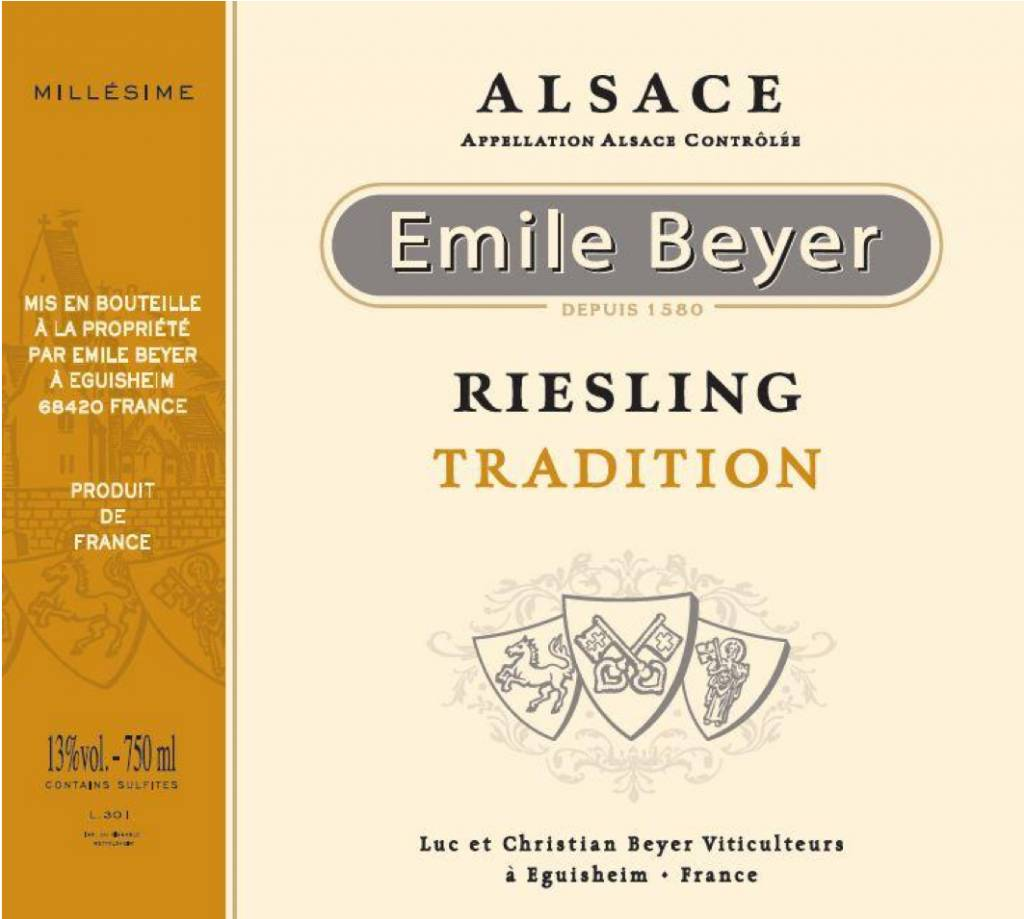 Domaine Emile Beyer - Riesling Tradition - 2013-2