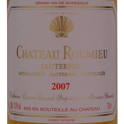 Château Roumieu - Sauternes - 2007
