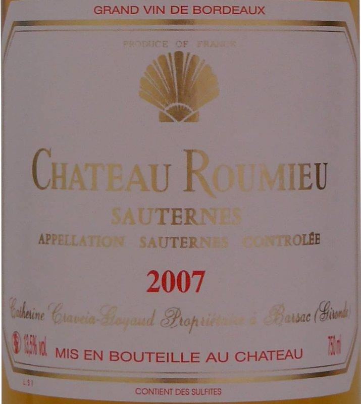 Château Roumieu - Sauternes