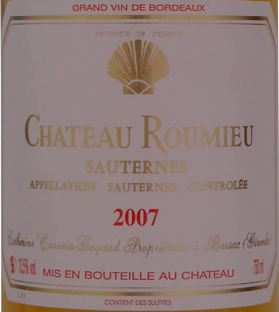 Château Roumieu - Sauternes - 2007-2