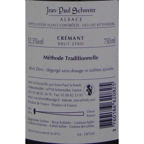 Domaine Jean-Paul Schmitt - Crémant - Brut Zéro