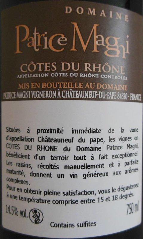 Domaine Patrice Magni - Côtes du Rhône