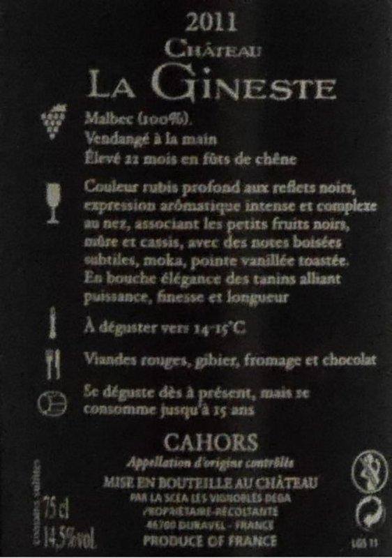 Château La Gineste - Grand Secrets... - Glazen Kist