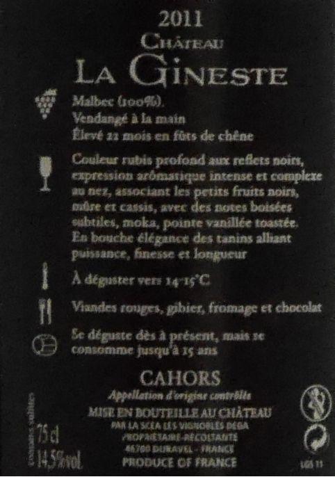 Château La Gineste - Grand Secrets... - 2011- Glazen Kist-5