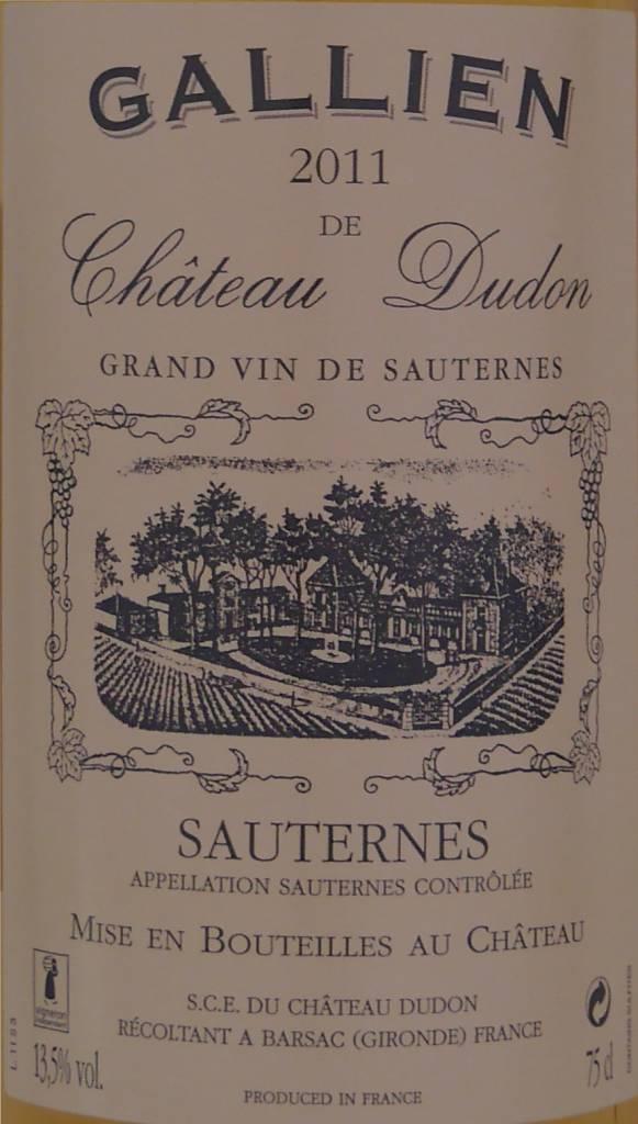 Château Dudon - Sauternes - Gallien de Château Dudon-3
