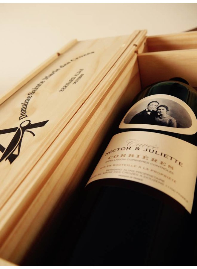 Domaine Sainte Marie des Crozes - Hector et Juliette - Magnum in houten kist