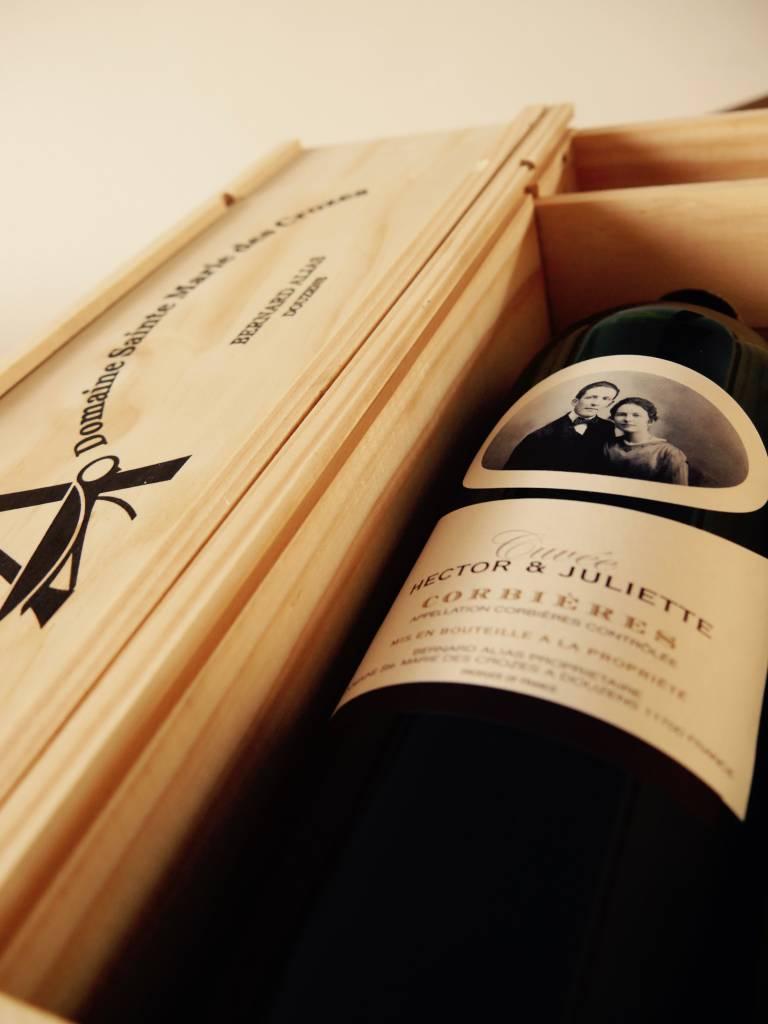 2015 - Hector et Juliette - Magnum in houten kist - Domaine Sainte Marie des Crozes-1