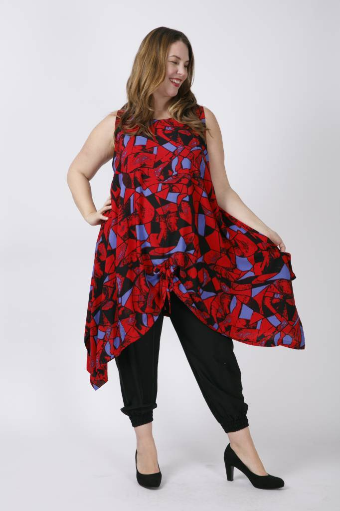 80b95b17164f3f Hippe Grote Maten Dames Tuniek MAXI L - Kay Fashion