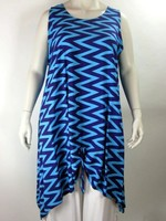 Luna Serena Tunic MAXI XL BLUE PRINT