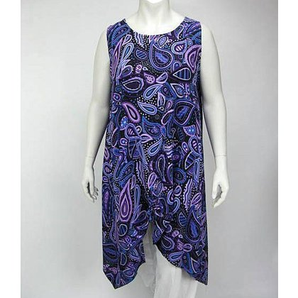 Luna Serena Tunic MAXI XL PRINT PURPLE