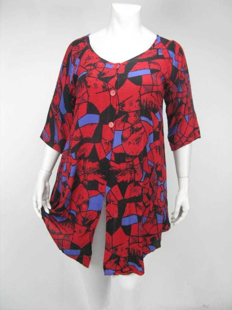 5ee4b250583860 Grote Maten Dames Jas FAIR KRINKLE - Kay Fashion