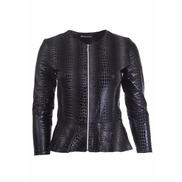 Magna Fashion Jacke K7001 LEDERLOOK PRINT