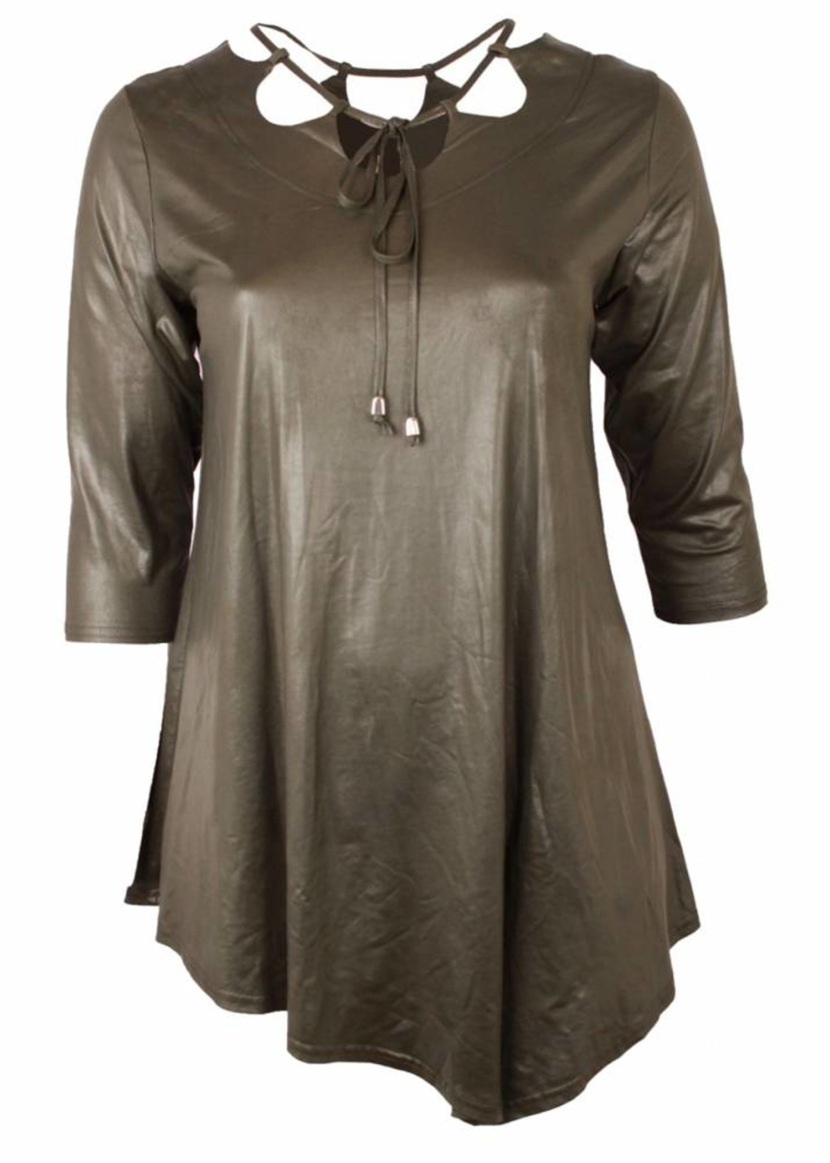 Magna Fashion T-Shirt B5008 LEATHER LOOK
