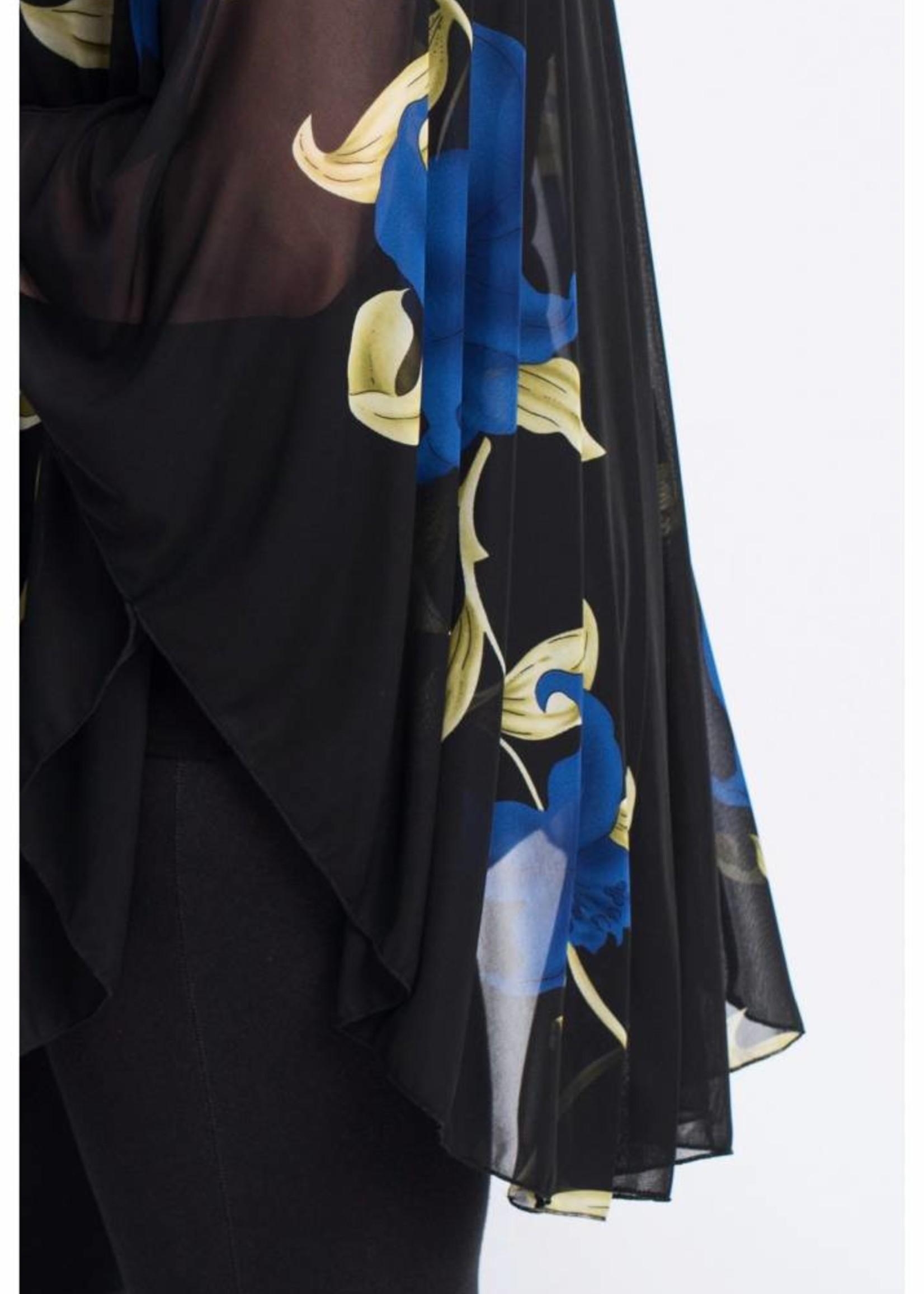 Magna Fashion Poncho M04 CHP FLOWER