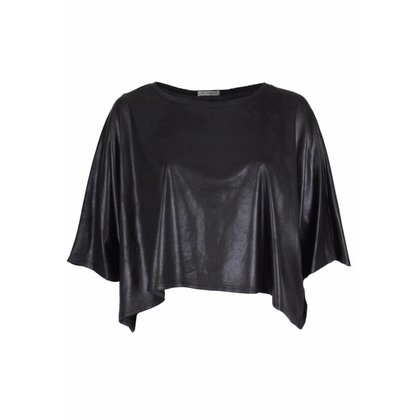 Magna Fashion Poncho M4004 LEATHERLOOK WINTER