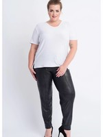 Magna Fashion Trousers D7003 LEATHERLOOK