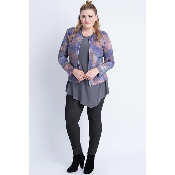 Magna Fashion Jas K31 LEATHERLOOK PRINT