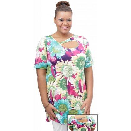 Magna Fashion SALE Tunic TULIPIA PRINT LIGHT FLOWERS