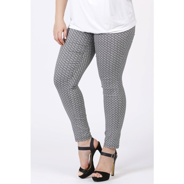 Magna Fashion Pantalon D7002 VISCOSE PRINT