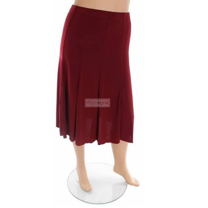 Magna Fashion SALE Skirt G23 SOLID WINE RED