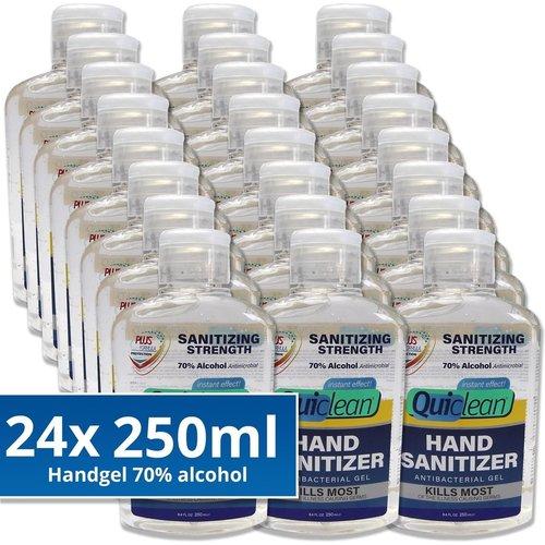 Quiclean Desinfecterende Handgel 70% Alcohol - 24X250ml