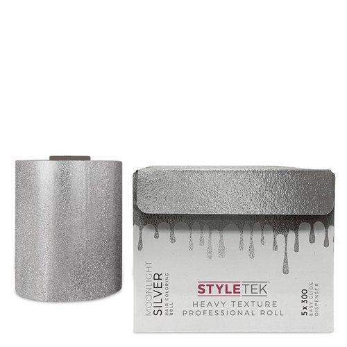 Styletek Moonlight Silver Embossed Folie - 100M