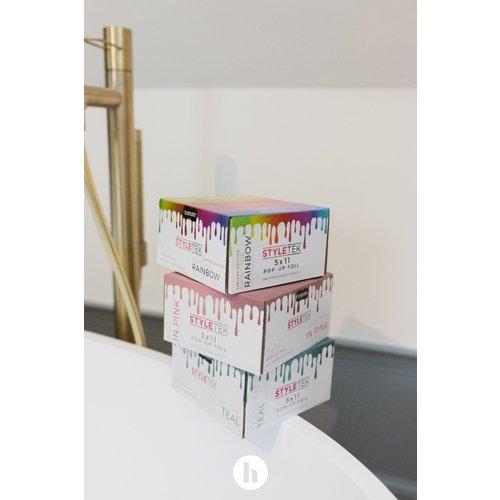 Styletek Voorgevouwen 5x11 Roze Pop Up Folie - 500st