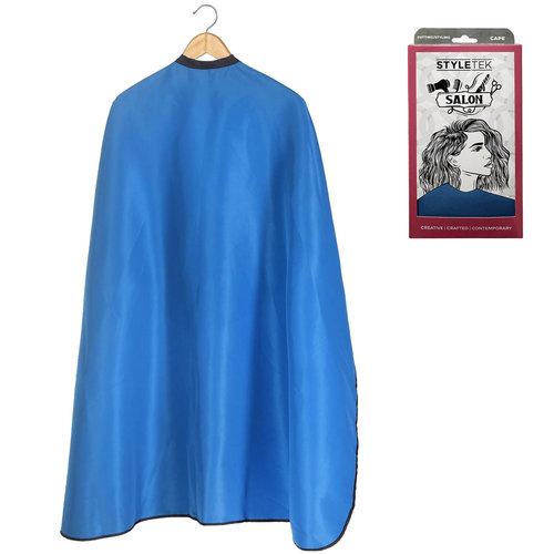 Styletek Kap/Verfmantel Blauw met drukknopen- 152x120cm