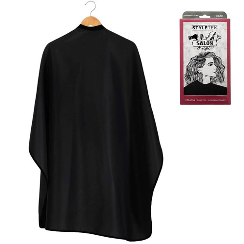 Styletek Kap/Verfmantel Zwart met drukknopen- 152x120cm
