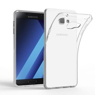 Samsung Galaxy A7 2017 Hoesje Tpu Siliconen Case - Transparant
