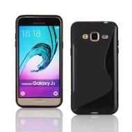 S-Style Tpu Siliconen Case Zwart Hoesje voor Samsung Galaxy J3