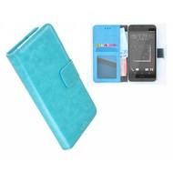 HTC Desire 628 Portemonnee Hoesje Wallet Book Case Turquoise