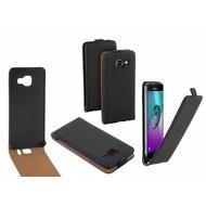 Eco Flipcase Cover Hoesje voor Samsung Galaxy C7 Pro - Zwart