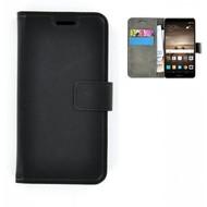 Effen Bookcase Wallet Hoesje voor Huawei Mate 9 - Zwart