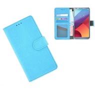 Turquoise Wallet Bookcase Portemonnee Hoesje LG G6