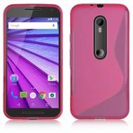 Roze S-Style TPU Siliconen Hoesje Motorola Moto G (3rd gen) 2015
