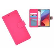 Roze Wallet Bookcase Portemonnee Hoesje LG G6