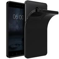Zwart TPU Siliconen Hoesje Nokia 8