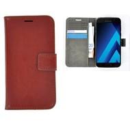 Bruin Effen Wallet Bookcase Hoesje Samsung Galaxy C5 Pro