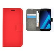Rood Effen Wallet Bookcase Hoesje Samsung Galaxy C5 Pro