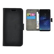 Zwart Effen Wallet Bookcase Hoesje Samsung Galaxy S8