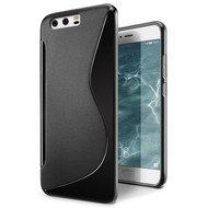 S-Style Zwart TPU Siliconen Case Hoesje voor Huawei P10 Plus