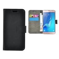 Zwart Effen Wallet Bookcase Hoesje Samsung Galaxy J5 2017