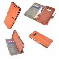Lichtbruin Effen Wallet Bookcase Hoesje Samsung Galaxy S8