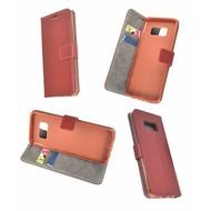 Donkerbruin Effen Wallet Bookcase Hoesje Samsung Galaxy S8